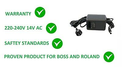NEW AC Adapter For Boss DR-770 DR-880 Dr Rhythm SP-505 VF-1 GX-700 AF-70 GR-33