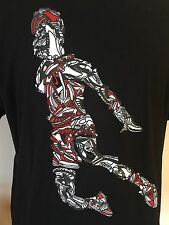 Nike Air Jordan Sneaker T-Shirt Jumpman Black Mens Size XL
