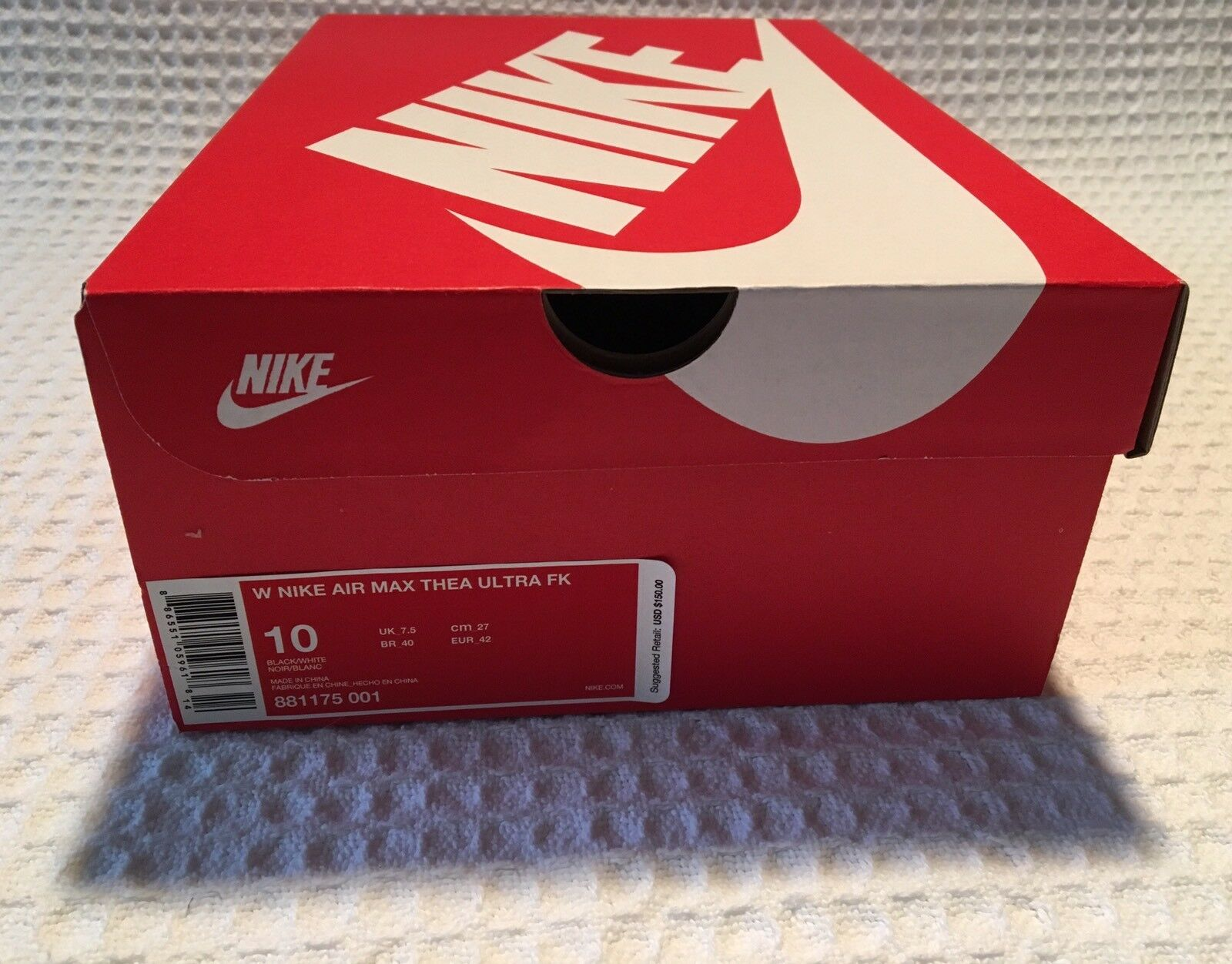timeless design 7509a b5797 ... new NIKE Air Max Thea Ultra Ultra Ultra FK Sneakers Running Shoes  150  Black White 10 ...