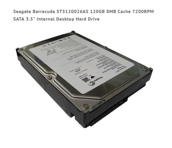 "120GB Seagate 3,5"" SATA Festplatte ST3120026AS"