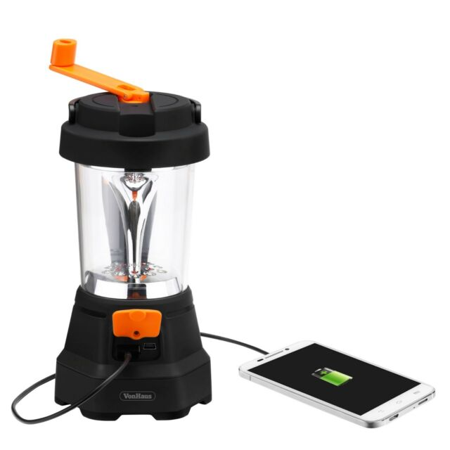 VonHaus 4 in 1 Dynamo Rechargeable 3 LED Spotlight Torch 10 LED Lantern