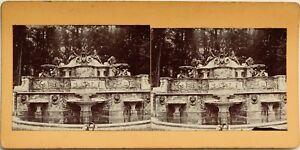 Fontana-Napoli-Italia-A-Ientifier-Fotografia-Stereo-Vintage-Citrato-c1900