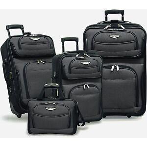 Travelers-Select-Amsterdam-4-piece-Luggage-Set-Gray