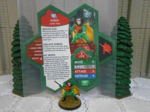 Heroscape Custom Robin Jason Todd Double Sided Card & Figure w/ Sleeve DC Batman