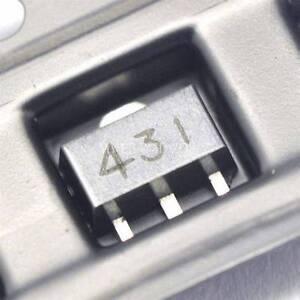 50PCS-TL431-431-SOT-89-Regulators-Transistor-SMD-transistor