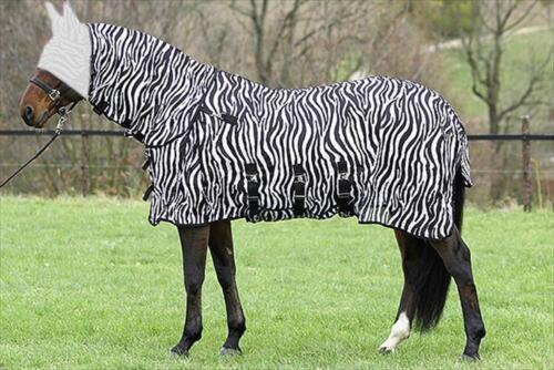 EURORIDING MOUCHES COUVERTURE zebra-halsteil amovible