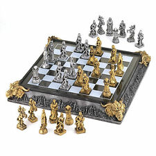 CHESS SET: MEDIEVAL KNIGHTS AND DRAGONS Board Game NEW