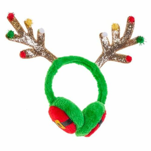 Renna PARAORECCHIE VERDE Elf Christmas Cerchietto Natale Party Costume Accessorio
