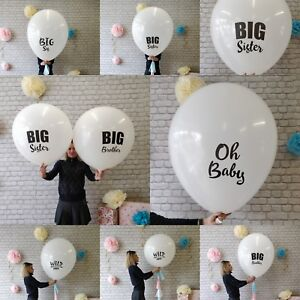 Baby-Wild-One-Party-Latex-Balloon-Gender-reveal-3-Feet-91-cm-Big-Bro-Sis-Oh-Baby