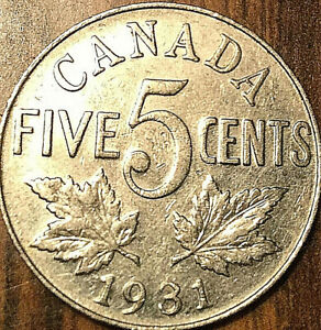 1931-CANADA-5-CENTS