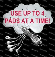 Omron Hv-f127 / Hv-f128 Compatible Cable/electrode Wire W/4 Electrotherapy Pads