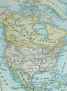 Details about 1905 MAP NORTH AMERICA UNITED STATES MEXICO DOMINION OF  CANADA CUBA HONDURAS