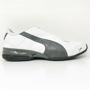 Puma Mens Super Elevate 185399 01 White Black Running Shoes Lace Up Size 8.5