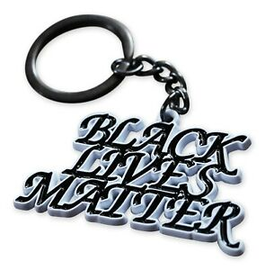 Black lives matter keychain clip