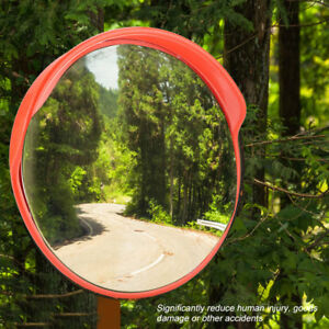 30cm-Wide-Angle-Security-Curved-Convex-Road-PC-Mirror-Traffic-Driveway-Safety