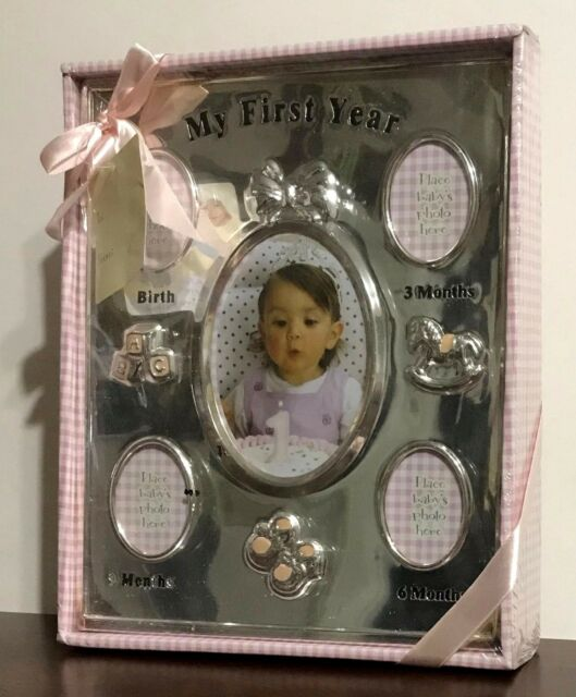 Baby Essentials Watch Me Grow My First Year Silver Picture Frame Ebay
