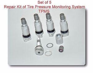 Set 5 Tire Pressure Monitoring System Tpms Service Kit
