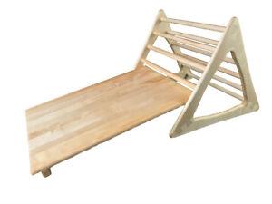 Kletterdreieck Pikler Gebraucht : Pikler kletterdreieck massiv ahorn mit schiefer ebene ideal für