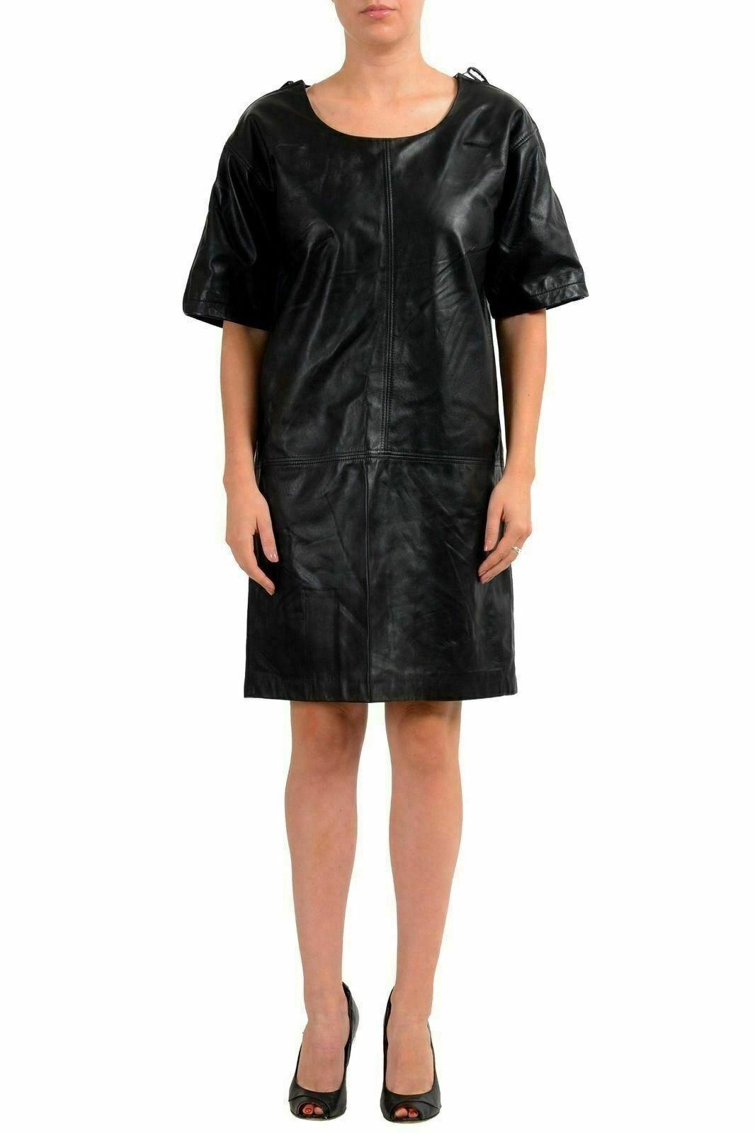 Maison Margiela 1  Mujer 100% Cuero Negro Funda Vestido Túnica Eu M It 42  últimos estilos