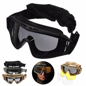 43d9d17d16b Image is loading Anti-Fog-Goggles-With-3D-Lenses-Tactical-Airsoft-