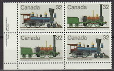 CANADA #999-1000 32¢ Canadian Locomotives LL Inscription Block MNH
