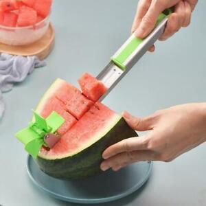 Wassermelonenschneider-Cutter-Messerzangen-Corer-Obst-Melone-Edelstahl-Gesc-D5W4