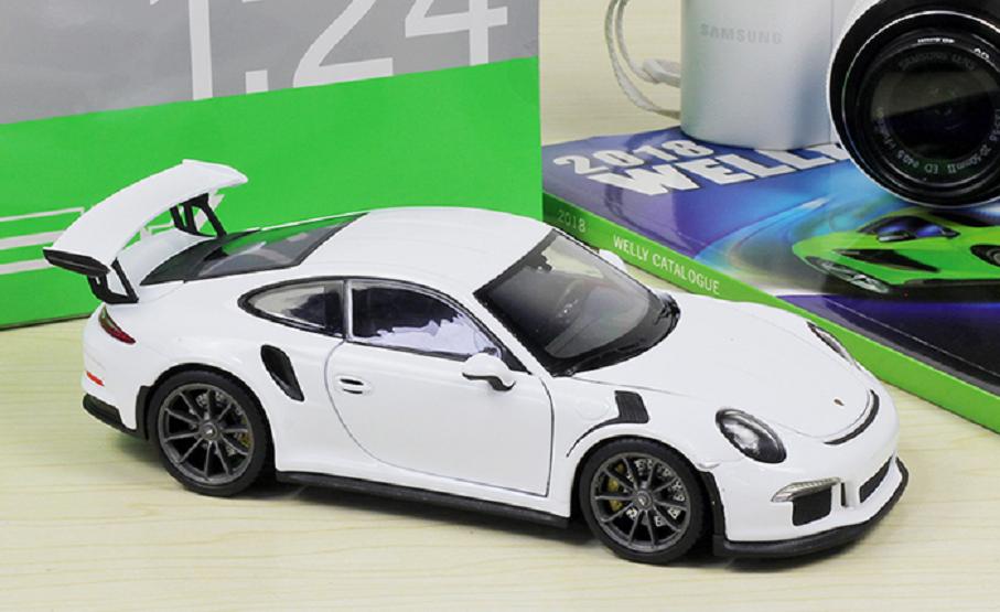 Welly 1 24 2016 Porsche 911 911 911 GT3 RS White Diecast Model Sports Racing Car NIB 80e796
