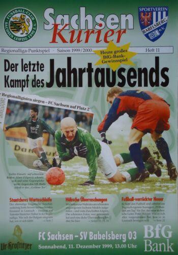 SV Babelsberg Programm 1999//00 FC Sachsen Leipzig