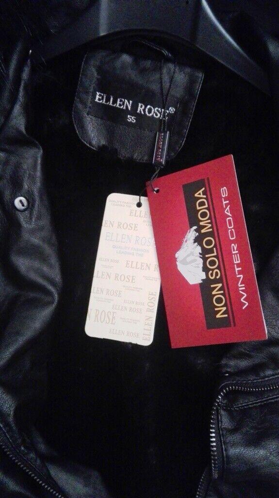 GIACCA CAPPOTTINO DONNA TAGLIA XL CON COLLO COLLO COLLO STACCABILE  FODERATO PELLICCIA NUOVA b78064