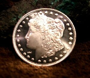 New Morgan Dollar Bullion Coin 1 Oz 999 Fine Silver