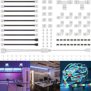 75Pcs/Set 4Pin RGB 5050 LED Connector LED Strip Light Connectors Accessories Kit