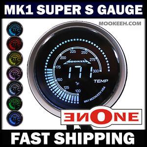 52mm MOOKEEH Black 7 LED Color Oil Temperature Temp Gauge w Sender Ceremony