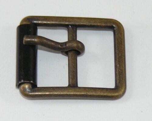 2 Fermer Boucles de ceinture rollschnallen 1,5 cm altmessing//Noir 04.14//538