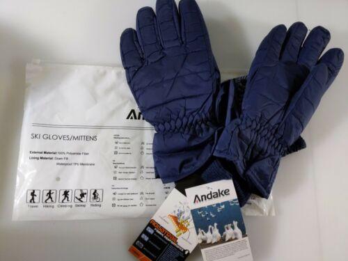 Andake Ski Down Gloves For Men Blue Down Size Large// XL NEW waterproof