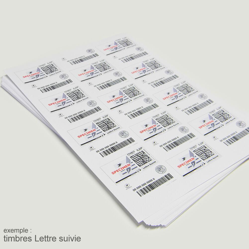 Planches A4 de 24 étiquettes autocollantes TIMBRE 6,35 x 3,39 cm - spéciales TIMBRE autocollantes 181e06
