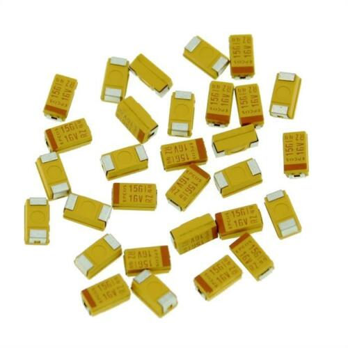 20x Tantal Kondensator SMD 15µF 16V 125°C ; Gr. C ; B45196H3156K309 ; 15uF