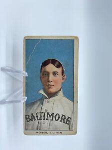 1909-11 T206 SWEET CAPORAL 350 JIMMY JACKSON BALTIMORE BASEBALL CARD