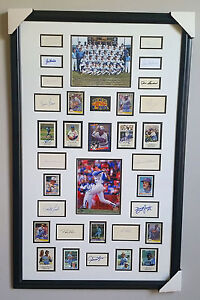 1982 Milwaukee Brewers Framed Piece w/ 32 signed autographs JSA Full Letter