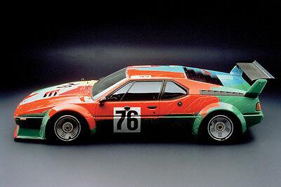 1977 BMW 320i ROY LICHTENSTEIN ART CAR POSTER PRINT 24x36 HI RES 9MIL PAPER