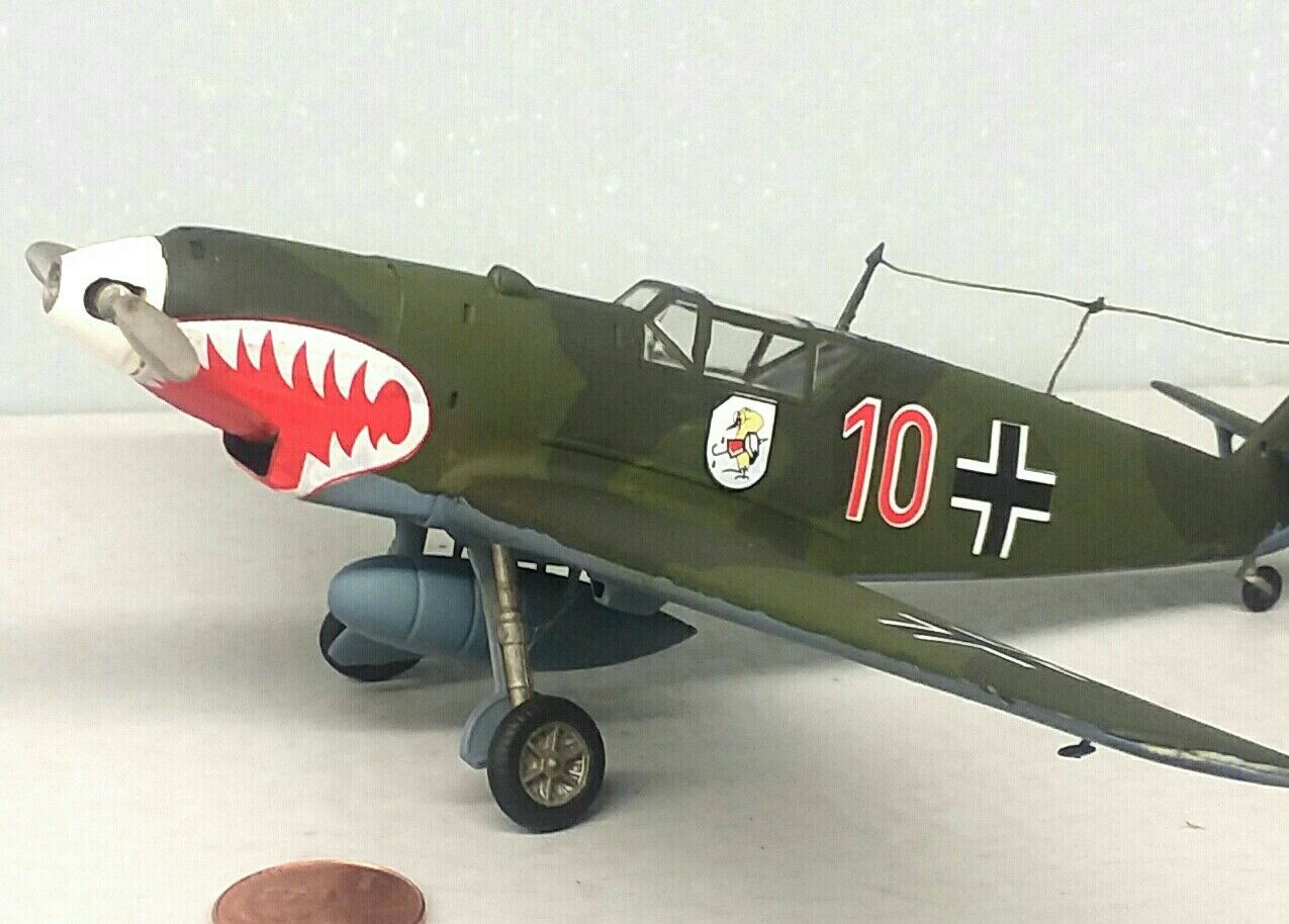 1 48 Scale Built Plastic Model Airplane WWII German Messerschmitt BF 109