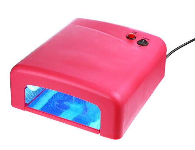 UV Lampe Pink UV Lichthärtungsgerät Lichthärtegerät UV-Lampe Timer inkl. 4Röhren