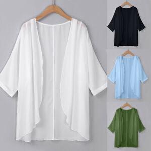 Charming-Women-039-s-Standard-Sheer-Loose-Kimono-Cardigan-Casual-Beach-Capes-US