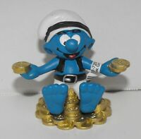 20766 Treasure Hunter Smurf Figurine From 2014 Pirate Set Plastic Figure