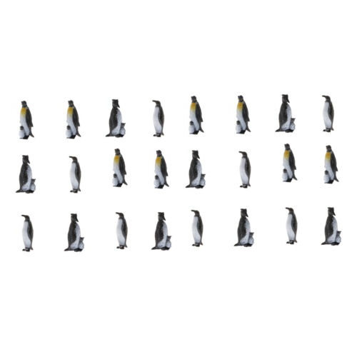 Pack of 24 Multiple Plastic Penguin Toy for Kids Simulation Animals Model