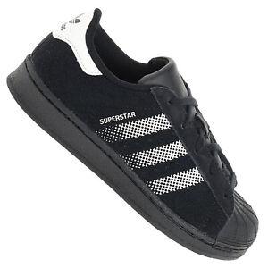zu Superstar Kinder Schuhe C Turnschuhe Originals Schwarz Leder Details B37281 Weiß adidas 9WHE2ID