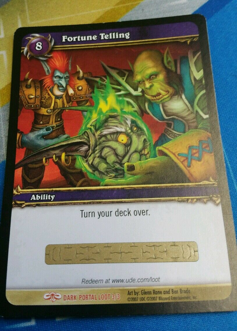World of Warcraft Fortune Telling  LOOT Unused Tcg UNSCRATCHED Imp in a ball