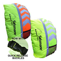Reflective High Viz Waterproof Cycling Backpack Rucksack Running Bag Rain Cover