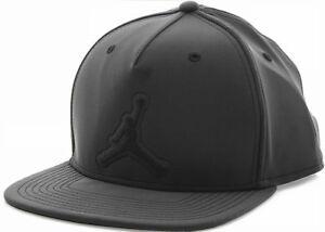 NIKE AIR JORDAN 5 RETRO SNAPBACK CAP Black reflective jumpman logo ... 281a8d371