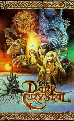 Great 4 Embroidery and Framing! Dark Crystal Movie Poster 8x10 Fabric Block