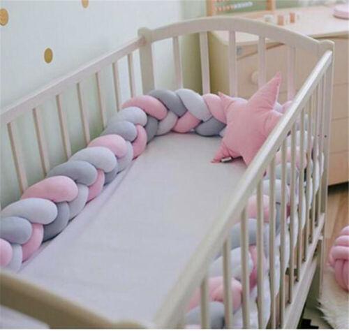 1-3.6M Baby Babynestchen Krippe Nestchen Kopfschutz Knotenkissen Bettschlange DE